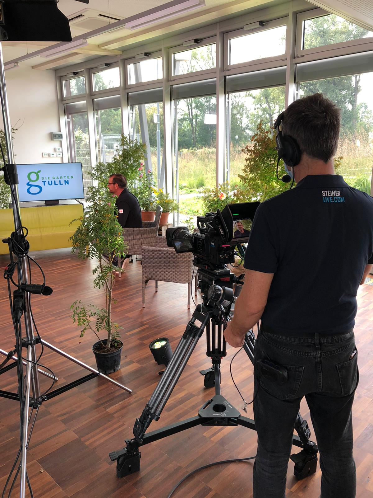 4. Salon EFW – Onlineproduktion mit Natur im Garten